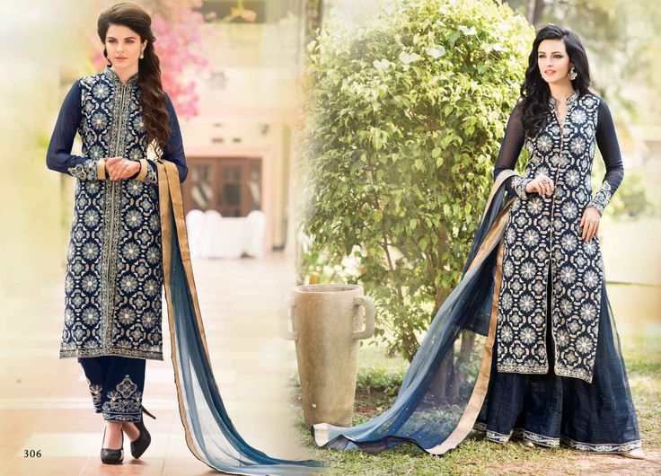 @Wedding Wear Navy Blue Color Designer Suit. Pricing Call Us or What's App on :- +91 99099 59528 Visit Our Site:=> #www.sareemall.in Email Us on:- support@sareemall.in