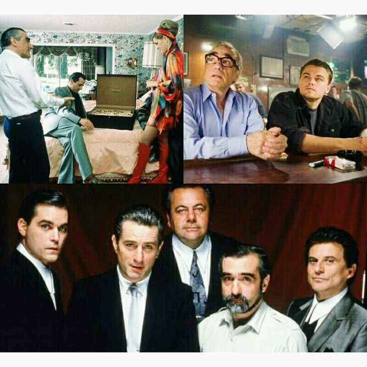 Scorsese films: Casino, The Departed, and Goodfellas; Pixlr edit