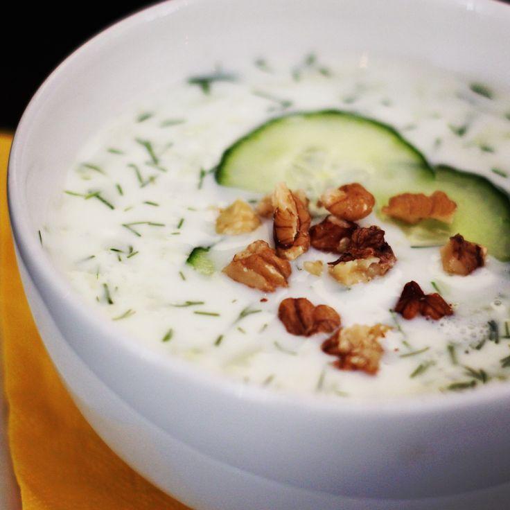 Studená polévka - okurkový tarator #soupinthecity #fusionhotel www.soupinthecity.cz