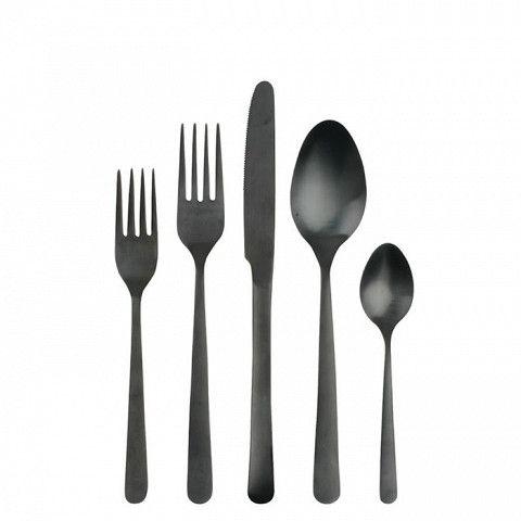 Oslo Matte Black Cutlery