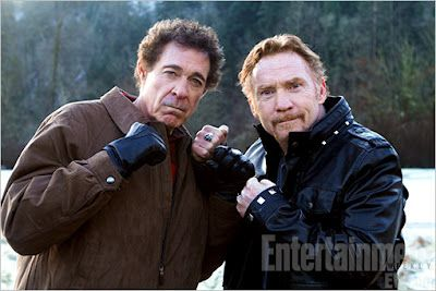 Danny Bonaduce and Greg Brady in Bigfoot.  This movie was so good, I turned it off after 40 minutes and 2 attempted suicides.