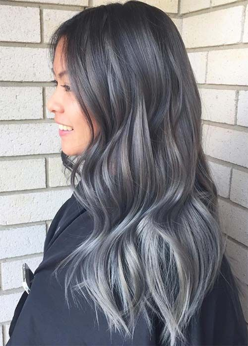 25+ best Dark silver hair ideas on Pinterest | Dark grey hair ...