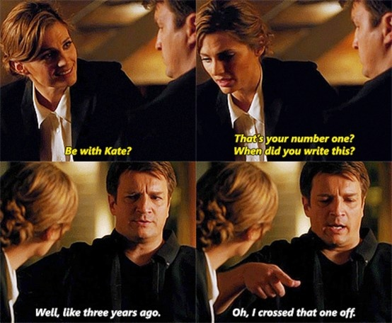 "I love how Castle keeps it casual, like ""Yeah right, Beckett. Like you didn't know I've loved you forever."""