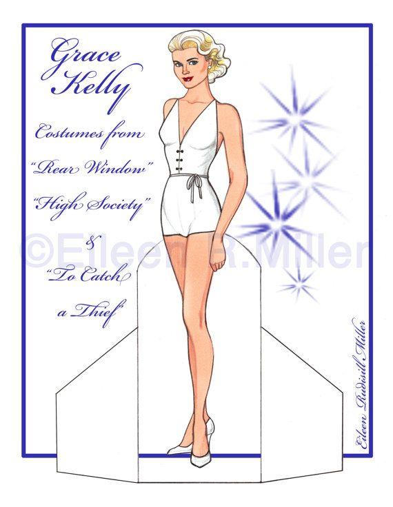 Muñeca de papel de Grace Kelly