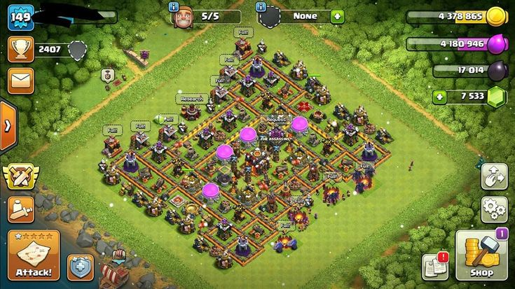 Clash of clans account fully upgraded town hall level 10