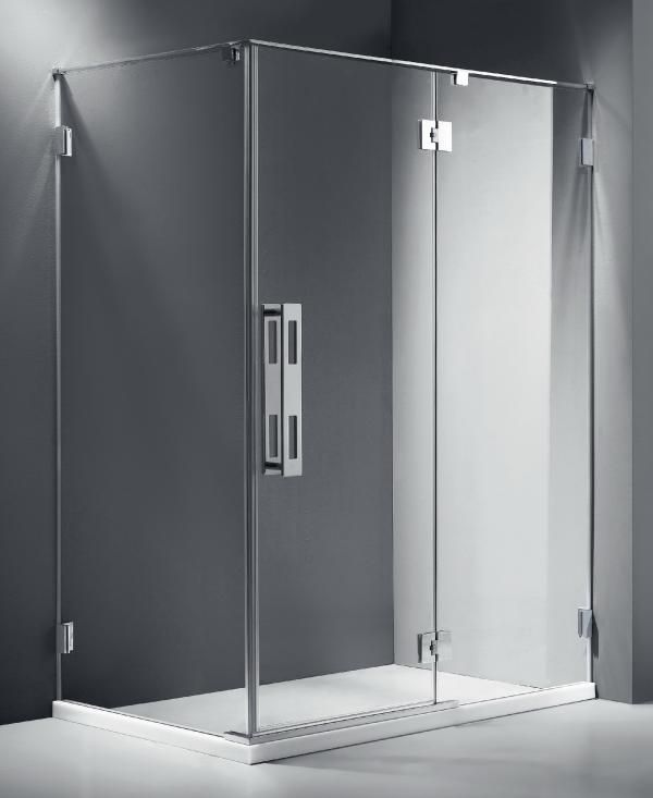 the frameless component of the infinity shower screen by marbletrend premium makes this shower the perfect addition to a minimalist bathroom