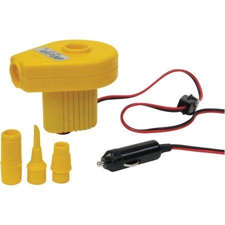 Stansport Portable Air Pump, 12 Volt, Yellow