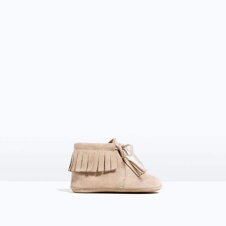 Image 1 of MINI FRINGED LEATHER BOOTS from Zara