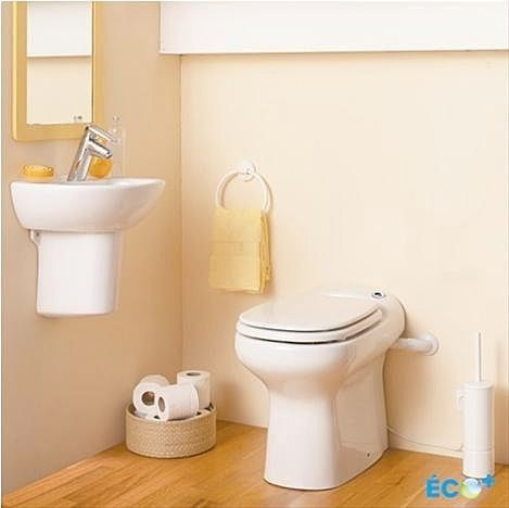 For the Laundry Room: Sanflo SaniCOMPACT macerator toilet