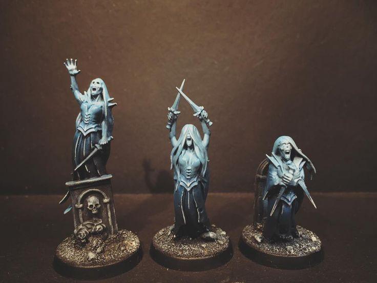 Age of Sigmar | Undead | Banshee group shot #warhammer #ageofsigmar #aos #sigmar #wh #whfb #gw #gamesworkshop #wellofeternity #miniatures #wargaming #hobby #fantasy