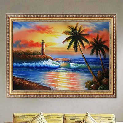 Sunset Seaside 5D Diamond Painting Embroidery DIY Cross Stitch Home Decor