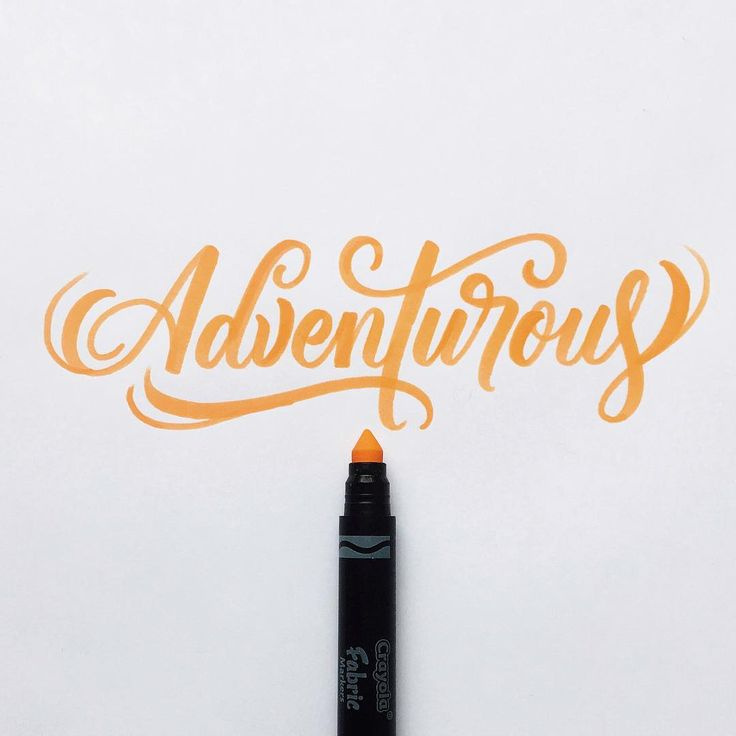 Be willing to take risks. Stay adventurous. #crayoligraphy