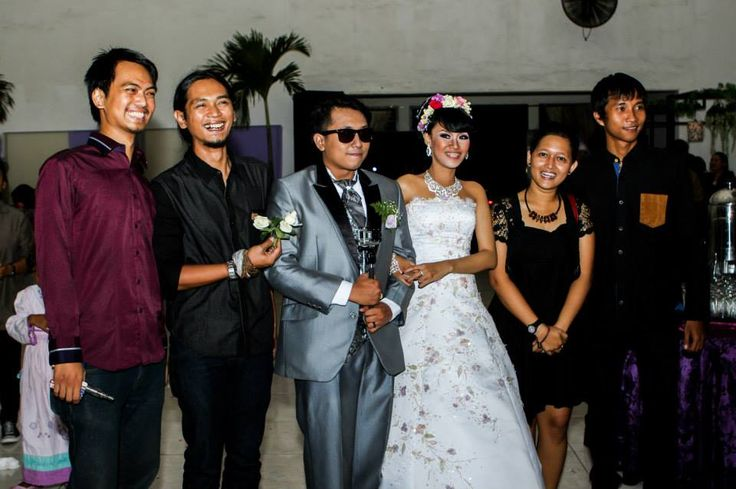 With the wedding organizer. Thank you super duper amazing team :*