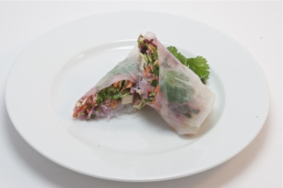 Thai Summer Rolls with Sweet Chili Peanut Dipping Sauce