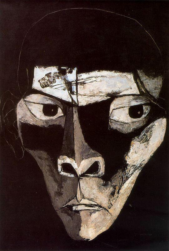 Niño negro. 1969. Óleo sobre tela. 135 x 95 cm. El Rostro de Hombre. La Edad de la Ira. Colección Fundación Guayasamín. Quito. Ecuador