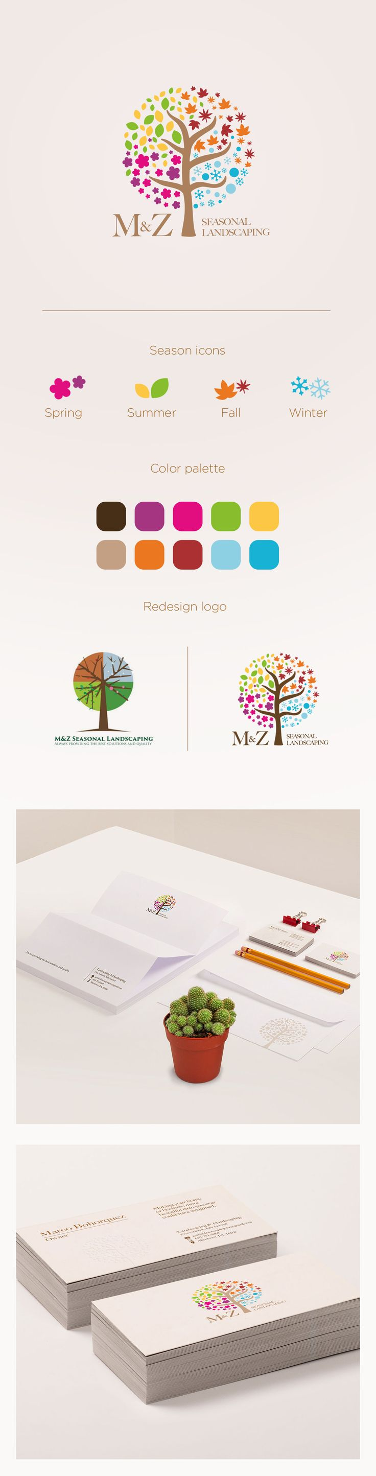 MZ Seasonal Landscaping #rebranding #redesign #logo #brand