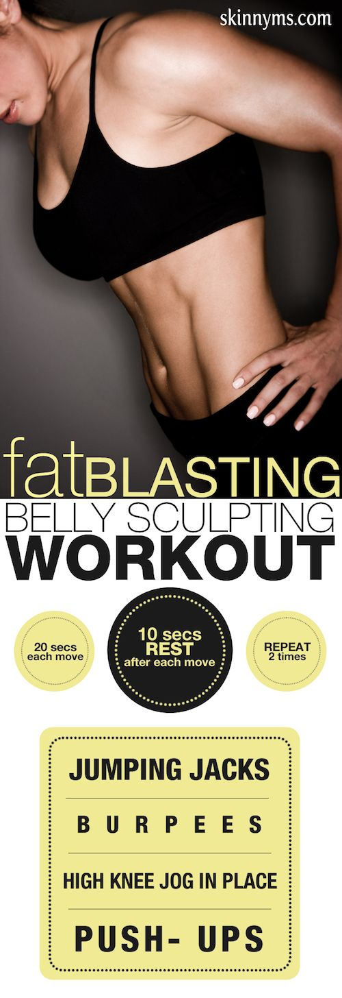 Fat Blasting Belly Sculpting Workout--a 4 minute fat blaster that burns fat for up to 24 hours!