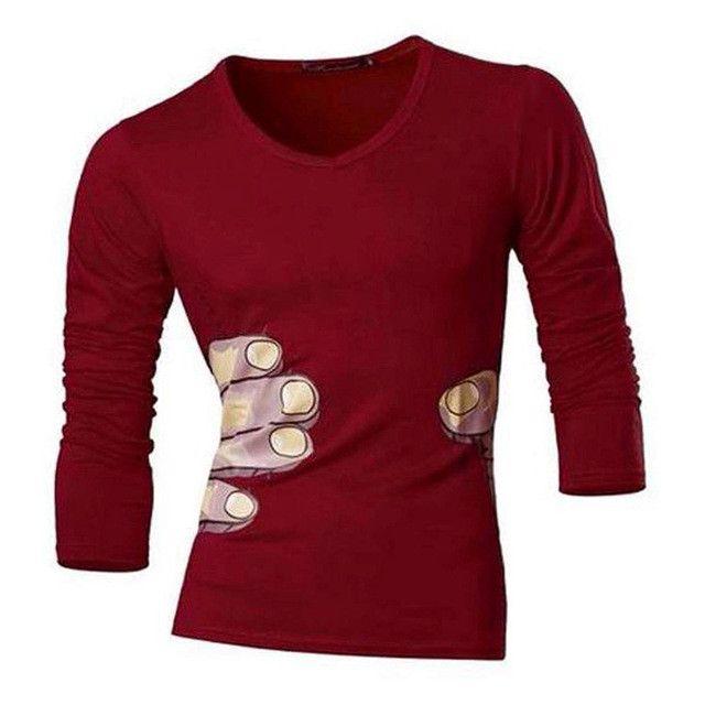 Mens Spring Autumn Long Sleeve Casual Designer Mens Shirt Slim Fit T-shirt Trend Fashion clothing
