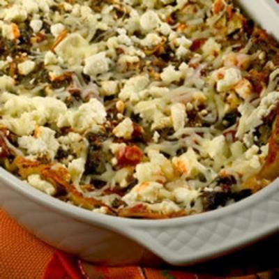 Artichoke Spinach Lasagna: Lasagna Noodles, Vegetable Broth, Artichokes, Crumbled Feta, Vegetables, Mozzarella Cheese, Spinach Mixture, Pasta Sauces, Fabulous Lasagna