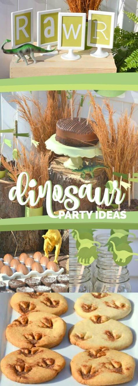 Dinosaur Birthday Party Ideas for Boys via @spaceshipslb