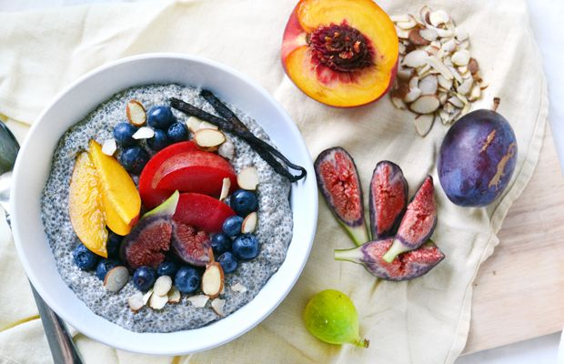 Vanilla-Almond Chia Breakfast Pudding: Chia Puddings, Chia Seeds, Food, Recipes, Breakfast Puddings, Chia Breakfast, Healthy, Almonds Milk, Vanilla Almonds Chia