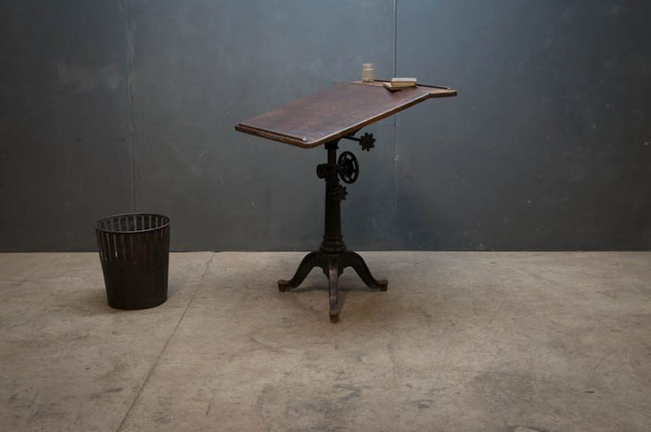 Victorian cast iron base drafting table