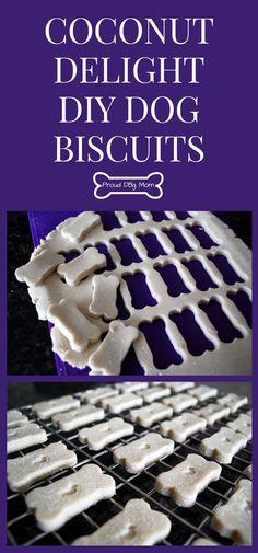 Coconut Delight DIY Dog Biscuits | Homemade Dog Treat Recipe | Gluten-Free Dog…