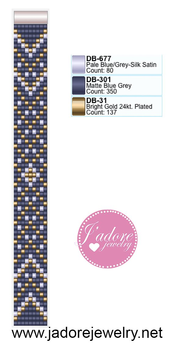 Bead bracelet pattern from Katrina Adams