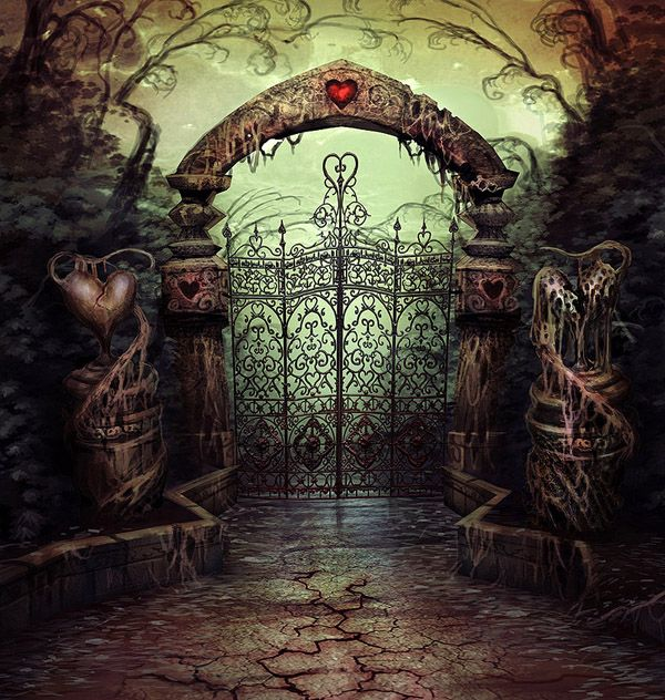 A gate for the maze in the Queen's castle designed by Luis Melo for Alice: Madness Returns