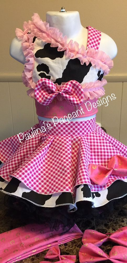 National Pageant Western Casual Wear Dress 3-5t OOC  | eBay