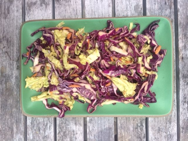 Here's a really tasty and easy update to previous coleslaw recipes I have posted to go with fish tacos. For the main course, try Bobby Flay's fish tacos with smoky…