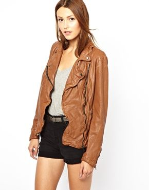 Muubaa Monteria #Leather Biker Jacket Get 7% cash back at http://www.studentrate.com/all/get-all-student-deals/ASOS-Student-Discount--/0