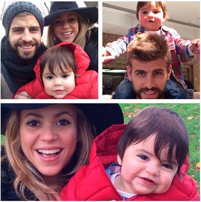 Shakira, Milan y Gerard Piqué le dan una cálida bienvenida al frío