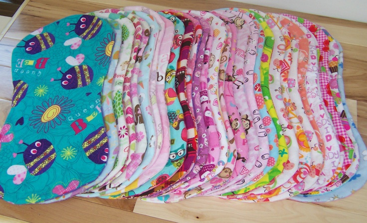 Handmade Hourglass Burp Cloths
