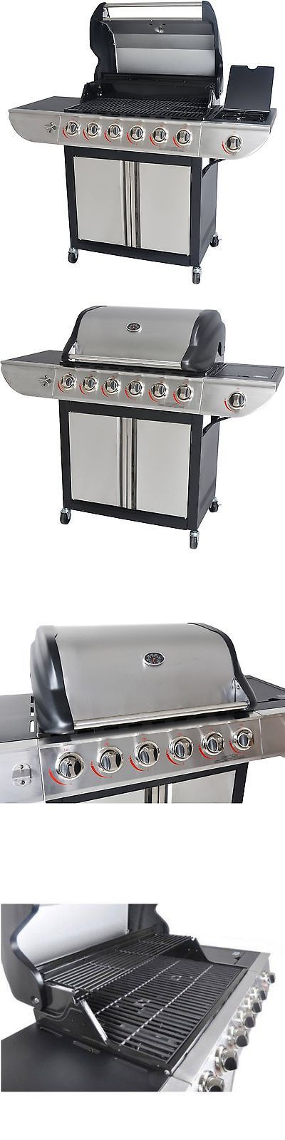 Barbecues Grills and Smokers 151621: Gas Grill 6 Burner Stainless Steel Barbecue Large Bbq Propane Outdoor Side New -> BUY IT NOW ONLY: $276.95 on eBay!