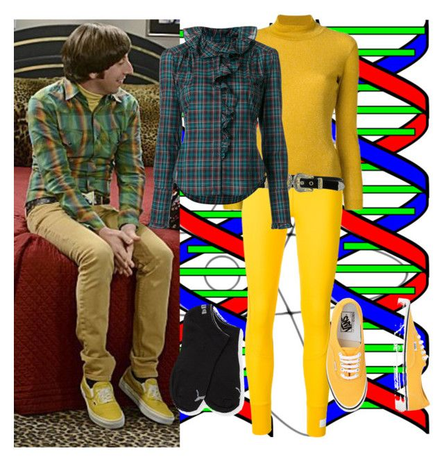 """The Big Bang Theory-Howard Wolowitz"" by fandom-girl365790 ❤ liked on Polyvore featuring adidas, Theory, Golden Goose, B-Low the Belt, Faith Connexion, Puma and Vans"