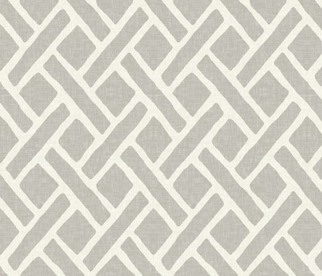 Savannah Trellis in Cashmere Grey fabric by sparrowsong on Spoonflower - custom fabric