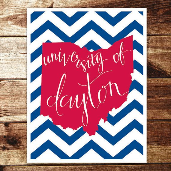 University of Dayton Print by evannicoledesigns on Etsy, $15.00