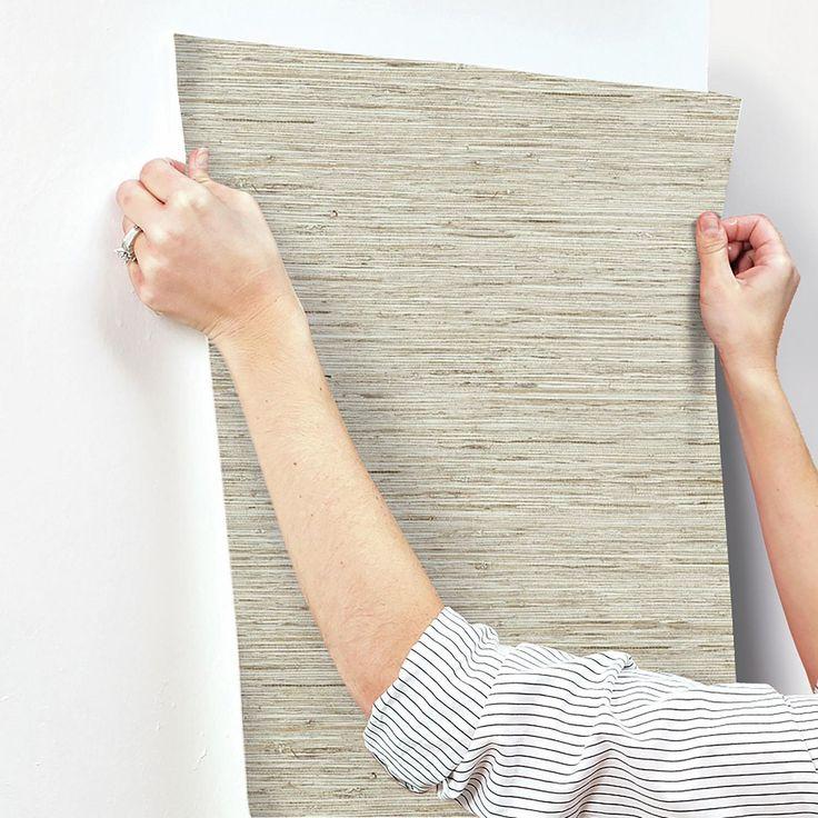 Grasscloth Peel & Stick Wallpaper RoomMates Grasscloth