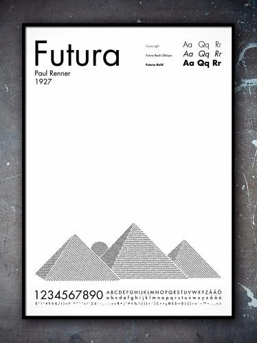 "Future | SWEDISH DESIGNER PER NILSSON HAS CREATED PRINTS OF SKYSCRAPERS AND PYRAMIDS USING FUTURA, GARAMOND, AND HELVETICA AS HIS ""PAINT."" #typography #design"