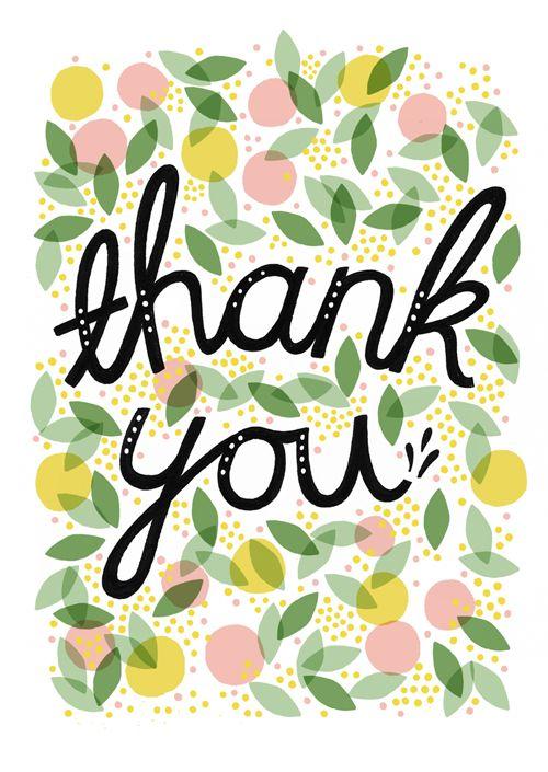 thank you card ~ Sarah Abbot