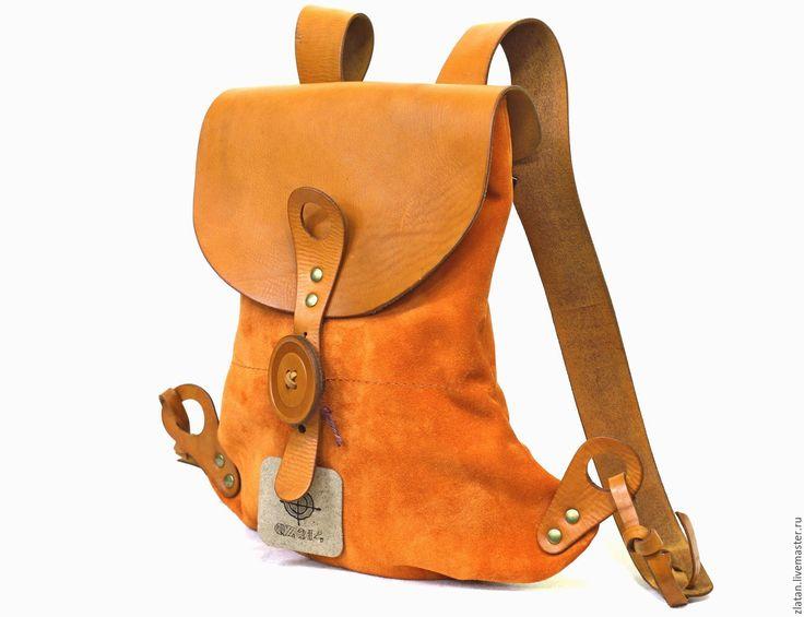 Купить Рюкзак Весна (LUNA) - оранжевый, рюкзак женский, рюкзак ручной работы, рюкзак кожаный