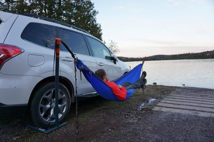 No Trees, No Problem!  - ENO Roadie Hammock Stand Review from Gear Junkies