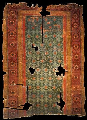 Seljuk rug, 13th century, Konya, Turkey.   Current Location: Turk ve Islam Eserleri Muzesi, Istanbul. Inventory no: 685