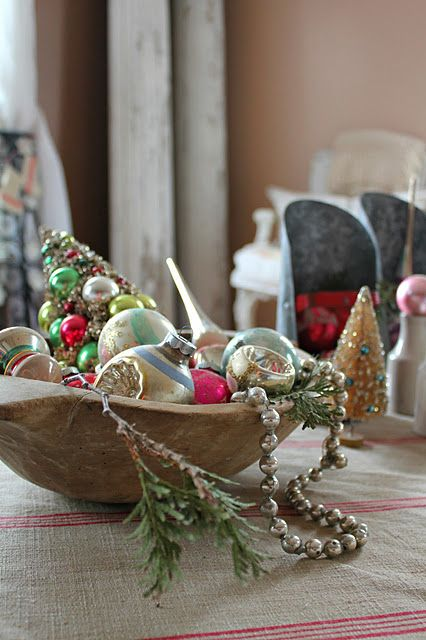 Old Time Pottery Christmas Decor