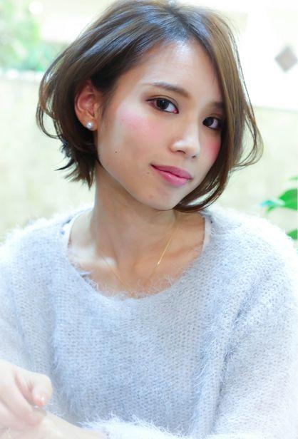 【Natura栄】*大人かわいいショートボブ* | 栄・錦・泉・東桜・新栄の美容室 Natura 栄店のヘアスタイル | Rasysa(らしさ)