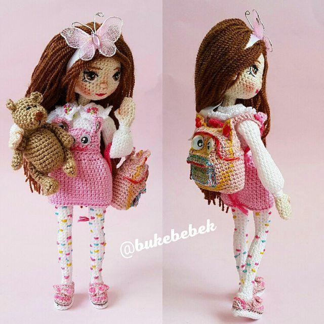 """1,097 Beğenme, 21 Yorum - Instagram'da Amigurumi - Tasarim -Dekor (@bukebebek): """"Selam bu ürünüm satıldı . .#em_hm #t_v_r #کروشیه#amigurumi #weamiguru #crochet #crochetdoll…"""""""