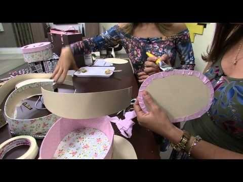Maleta Oval Cartonagem por Ana Paula Viegas - Parte 1