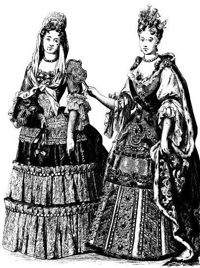 Принцесса Гедвига София Шведская и принцесса Елизавета Кристина Брауншвейг-Вольфенбюттельская