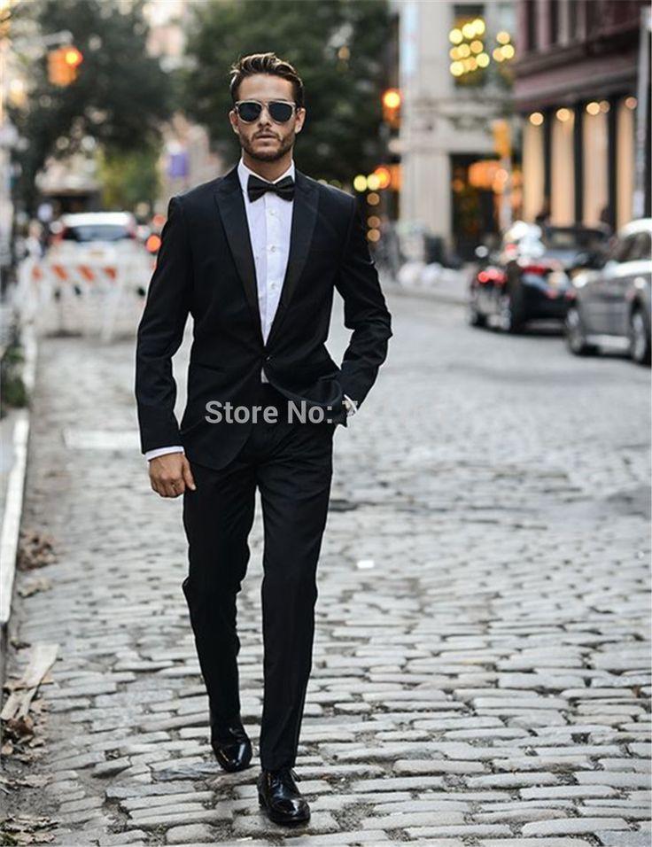 >> Click to Buy << Black slim fit  Men's Wedding Suit Custom Made blazer masculino Men Groom Suits 3 Pieces (jacket+pants+tie) #Affiliate